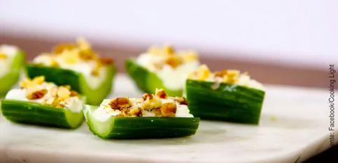 El aperitivo perfecto: ¡bocaditos de pepino con queso!