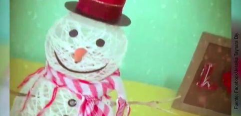 DIY: ¡muñeco de nieve muy navideño!