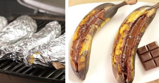 Süßes vom Grill: So zaubert ihr die Schoko-Grill-Banane
