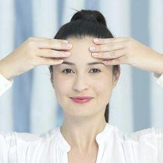 Yoga facial: masaje para la frente