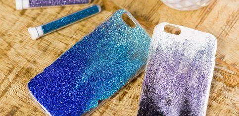 DIY: carcasa para móvil de purpurina