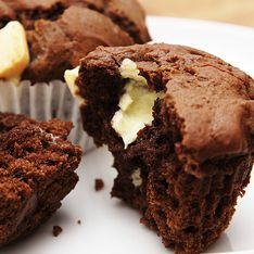 Rezept für Schokomuffins mit flüssigem Kern aus weißer Schokolade
