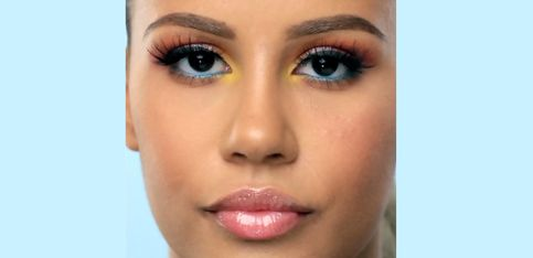 Für die nächste Partynacht perfekt: Regenbogen Make-up für die Augen!