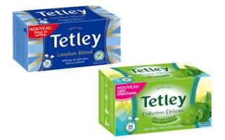 Tetley Tetley thé vert Collection Délicate Menthe rafraîchissante / Tetley thé noir London Blend