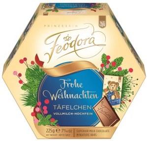 FEODORA Weihnachts-Täfelchen Vollmilch Hochfein Feodora