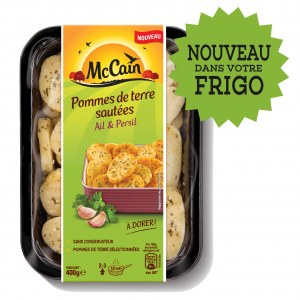 McCain Pommes de Terre Sautées Ail et Persil 400g - AU RAYON  FRAIS