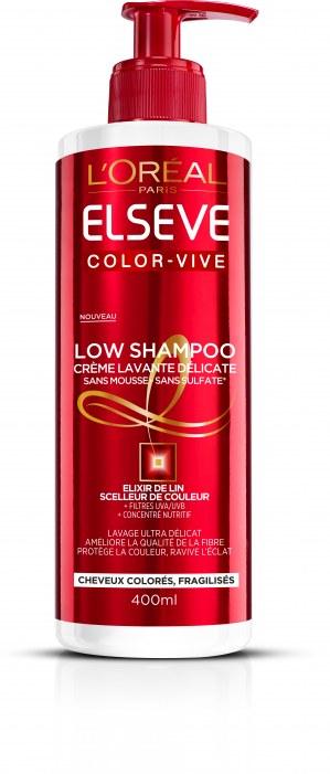 L'Oréal Paris Low Shampoo Color Vive – Crème Lavante Délicate SANS SULFATES *