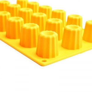 Marmiton x Orange MOULE MINI-CANNELÉS EN SILICONE - MADE IN FRANCE - JAUNE