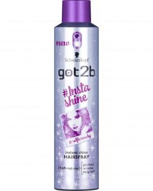 #Insta Shine Hairspray got2b