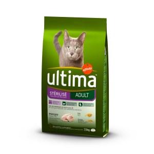 Ultima Chat Croquettes pour Chat stérilisé +10 ans 1.5kg Ultima
