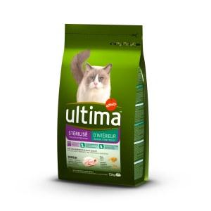 Ultima Chat Croquettes Ultima pour Chat stérilisé d'intérieur 1.5kg
