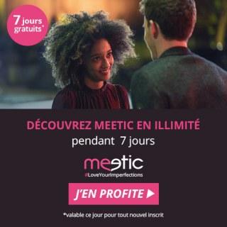 Meetic Offre 7 jours gratuits sur MEETIC
