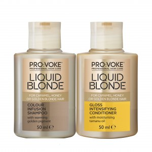 Liquid Blonde Shampoo & Conditioner 50ML TRIAL SIZE Pro:Voke