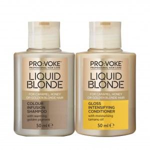 Liquid Blonde Shampoo & Conditioner 50ML TRIAL SIZE Pro:Voke