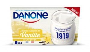 Danone Danone 1919 Arome naturel de Vanille au lait entier