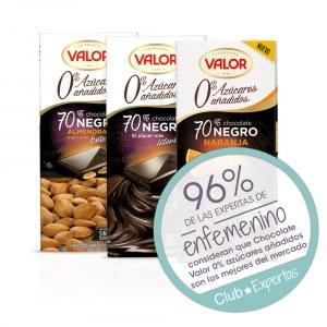 Opiniones Chocolates Valor 0% azúcares añadido Valor