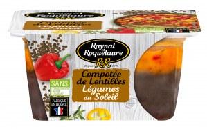 Raynal et Roquelaure Compotée de lentilles - Légumes du soleil