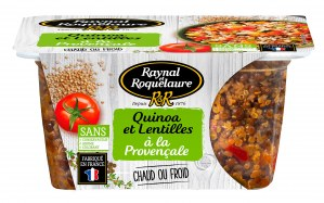 Raynal et Roquelaure Quinoa et Lentilles à la Provençale