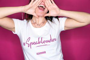 T-shirt #SpeakLouder Alfemminile