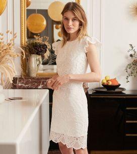 20 jolies robes de mariée courtes pour le jour J