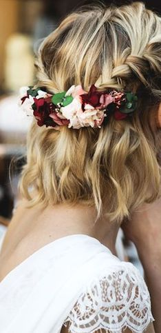 40 idées de coiffures de mariage pour cheveux mi-longs