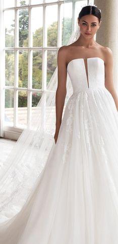 40 robes bustier à tomber pour les mariées