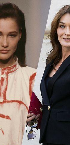 Retour en images sur l'évolution beauté de Carla Bruni