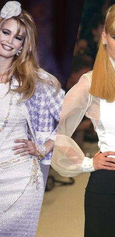 Mannequin star des années 90, retour sur les plus beaux défilés de Claudia Schiffer