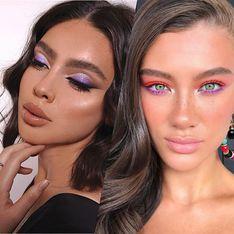 Inspirez-vous avant d'adopter la tendance du maquillage lilas !
