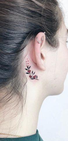 50 idées de tatouages pour derrière l'oreille