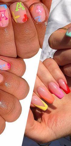 20 manucures pour adopter la tendance des ongles multicolores