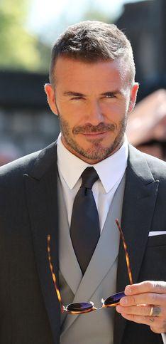 Así fue David Beckham a la boda de Harry y Meghan Markle