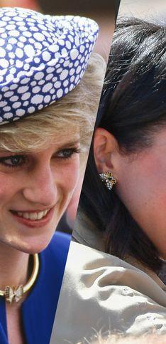Las veces en las que Kate y Meghan han llevado las joyas de Lady Di