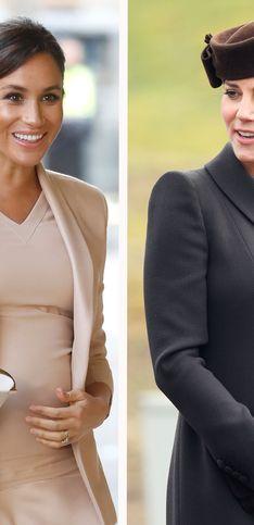 Meghan y Kate: duelo de estilo en sus embarazos