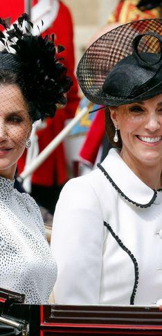 Duelo de estilos en la realeza, Kate Middleton y la reina Letizia brillan juntas en el 'Garter Day'