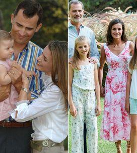¡Análisis royal! Los posados de Felipe y Letizia en Palma de Mallorca, año a año