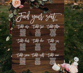 Tante idee per realizzare il tableau de mariage