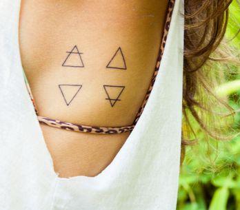 Tattoos que representam os 4 elementos (Fogo, Água, Terra e Ar)
