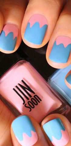 Para lembrar dos dias quentes de verão: nail art de sorvete!