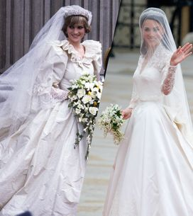 Wedding dresses worn by the royal family of England