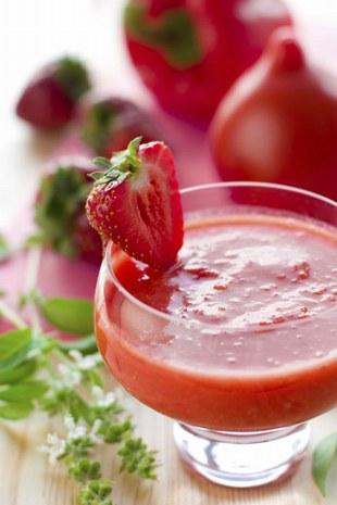 Recette: soupe de fraise