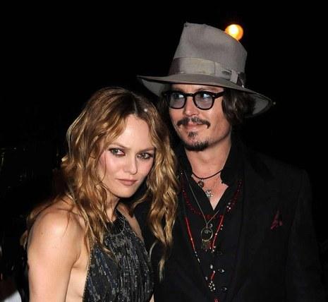 Vanessa Paradis et Johnny Depp, un couple célèbre qu'on adore! © Sipa