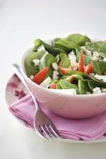 Salade fraises-épinards