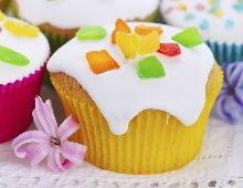 Cupcake aux fruits confits