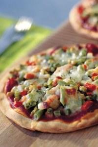 Recette pizza: Végétarienne