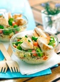Salade de poulet © Volailles fermières Label Rouge