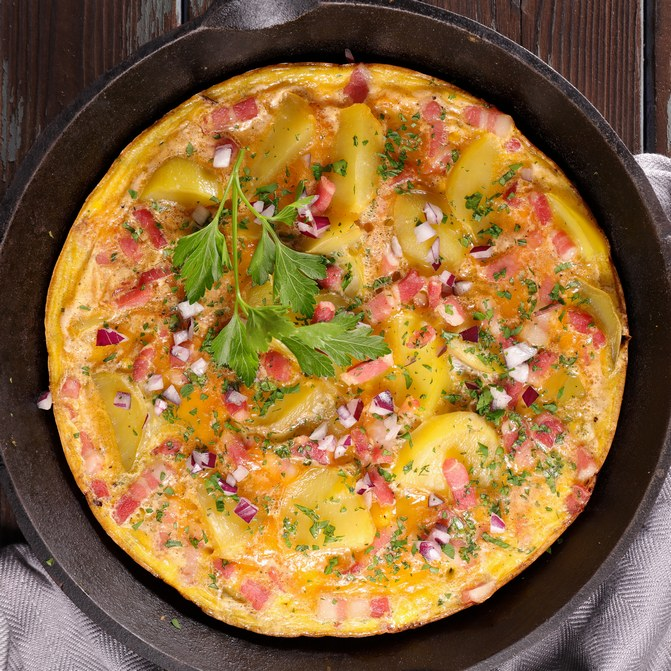 Recette d'omelette au jambon ©istock