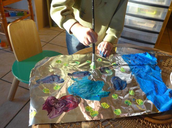 Peindre Sur Du Papier Aluminium Parole De Mamans