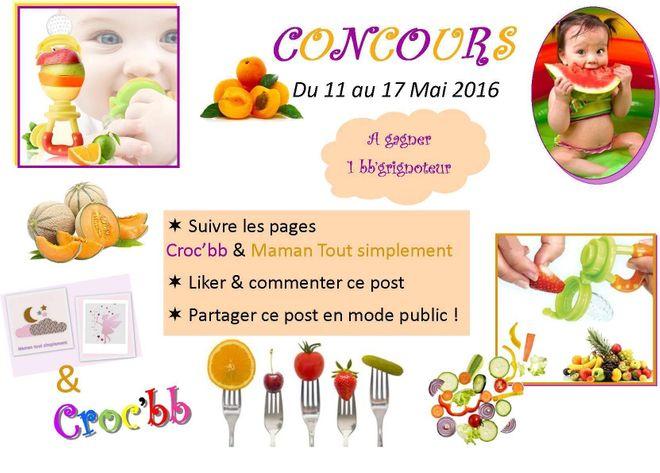 Jeu Concours Pour Gagner Un Bebe Grignoteur Parole De Mamans