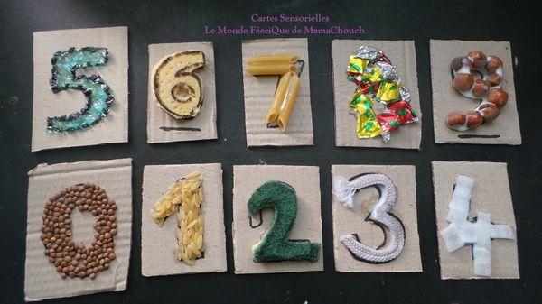 Cartes Sensorielles Activité Montessori